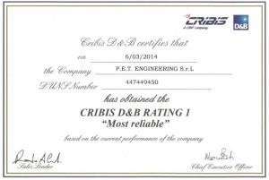 Certificato Cribis